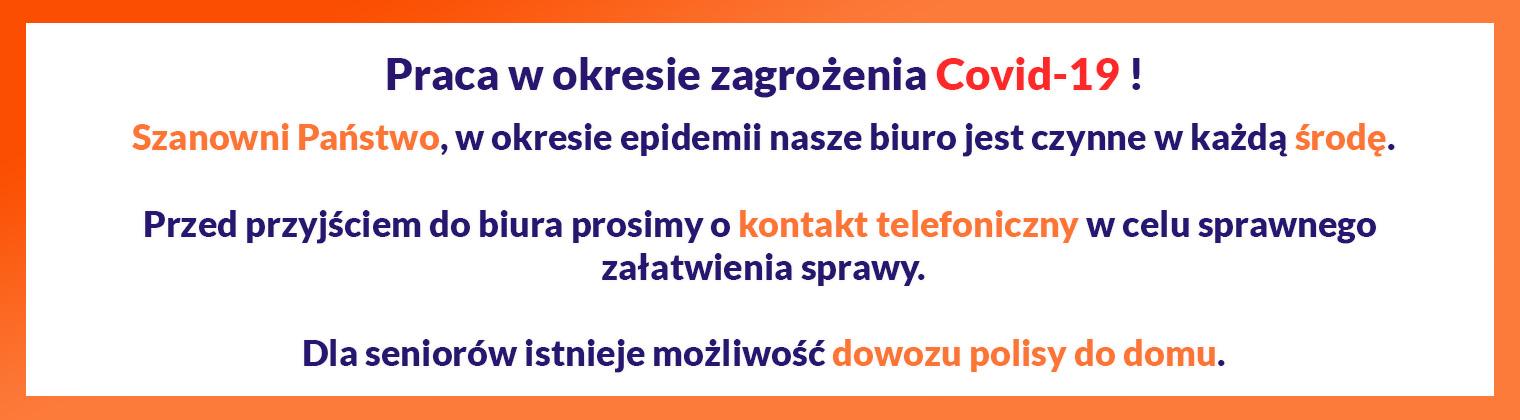 Ubezpieczenia Nowa Sól Covid19